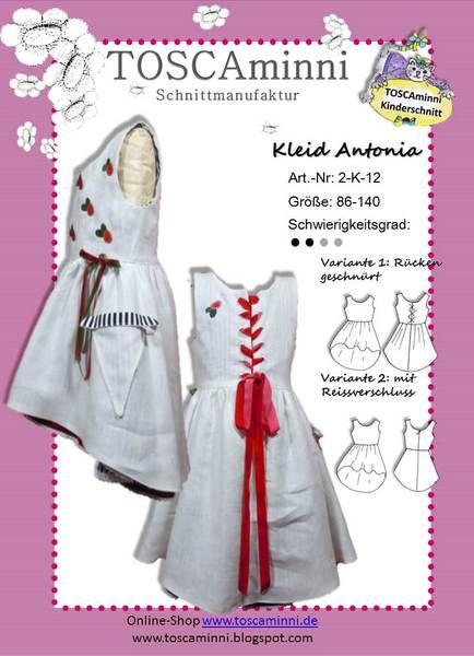 Schnittmuster+Kleid+(Kind),+E-Book,+Nähanleitung+von+TOSCAminni+E-Books+und+Schnittmuster+für+Kindermode+auf+DaWanda.com