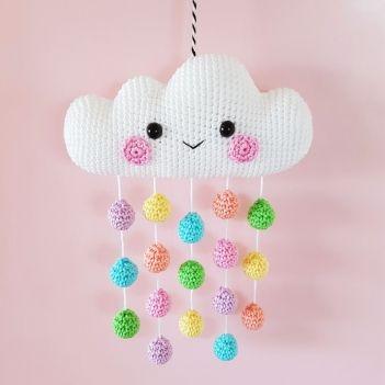 Cloud Mobile crochet pattern by Super Cute Design