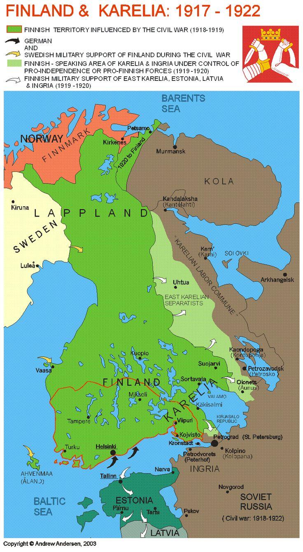 (1917-1922) Finland & Karelia