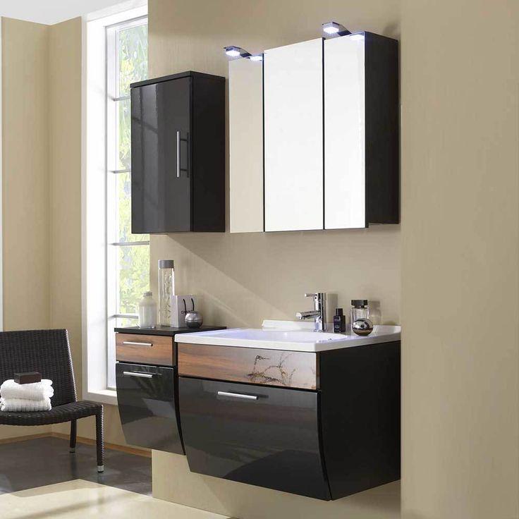 Hängende Badezimmermöbel In Anthrazit Hochglanz Walnuss (4 Teilig) Jetzt  Bestellen Unter: Https