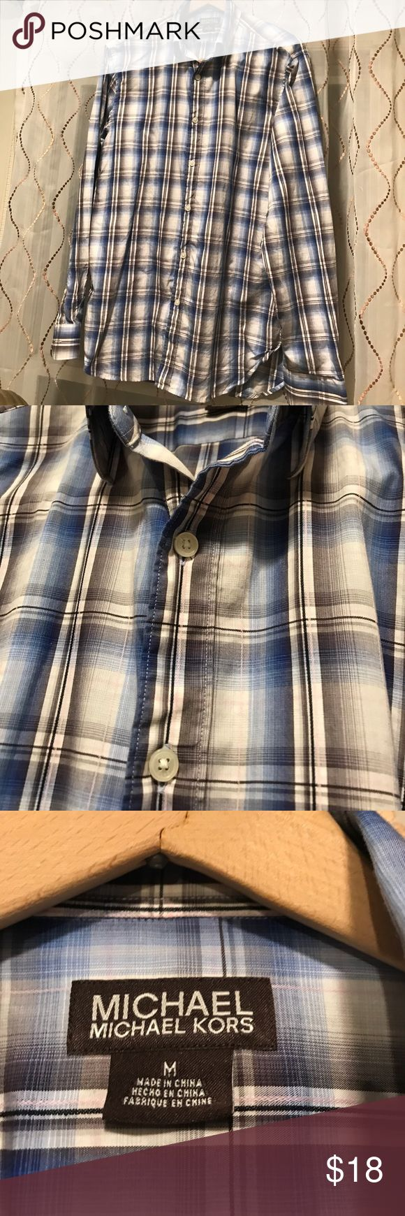Michael Kors mens shirt Excellent condition, just needs an ironing! Collar has stays. Michael Kors Shirts Casual Button Down Shirts