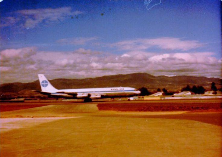 Pan Am 707 at La Aurora International Airport in Guatemala City, Guatemala. 1979.