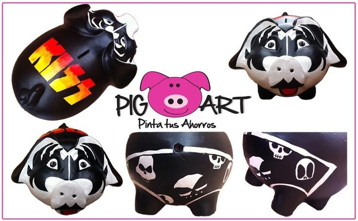 Quién quiere rockear con Kiss!! #Gene #Simmons #Rock #piggy #bank #money #save #alcancía