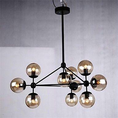 hängande ljus 10 lampor lantlig stil smidesjärn – SEK Kr. 3,168