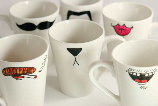 Paint your own coffee mugs for yourself or inexpensive gifts!
