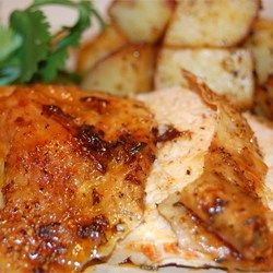 Roast Sticky Chicken-Rotisserie Style - Allrecipes.com, used in my weekly meal plan of December 7, 2015.
