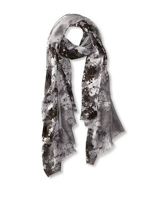 79% OFF Tahari Women's Floral Edge Scarf, Grey