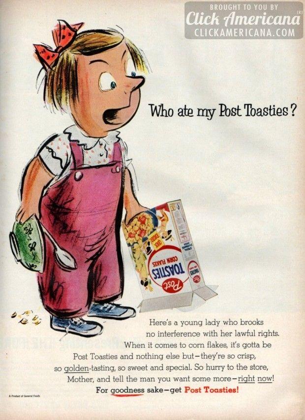 """Who ate my Post Toasties?"" (1955)"