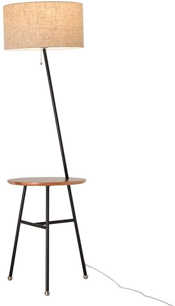 WHYA Nordic Wooden 1.57M Floor Lamp Modern Metal Tripod ...