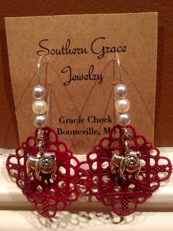 Go Dawgs Mississippi State Earrings  by SouthernGraceCompany