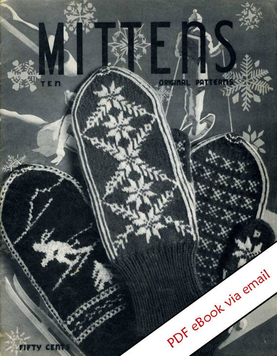 Vintage Mittens Knitting Patterns #mittenS:-)