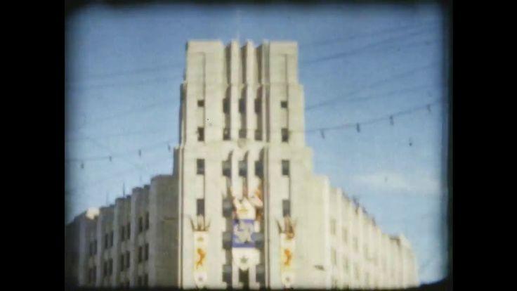1939 Color film of Royal Visit to Winnipeg, Manitoba Canada