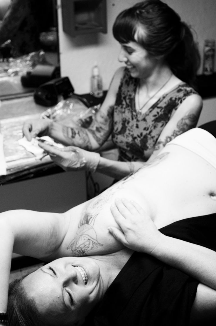 "P.ink Day ""artists we love"" series, #1 of 37: SAMANTHA MANCINO.   Samantha travels and works out of several shops including Clubhouse Tattoo in Oakland where this was mastectomy tattoo was done as one of 12 P.ink Day locations on 10/10/2014. Check her site at http://www.samanthamancino.com/ and book her early: smanchinotattoo@yahoo.com. #pinktattooday [p-ink.org]"
