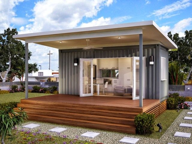 Monaco - One Bed One Bath Prefabricated Modular Home   Container Home Perhaps I should put one of these on my parents' land and live in it! :)