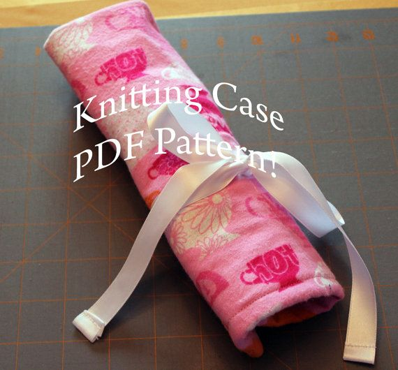 Knitting Needle Roll Pattern : Knitting Needle Roll Case Sewing Pattern PDF for Crochet Hooks, Pencils, Pain...