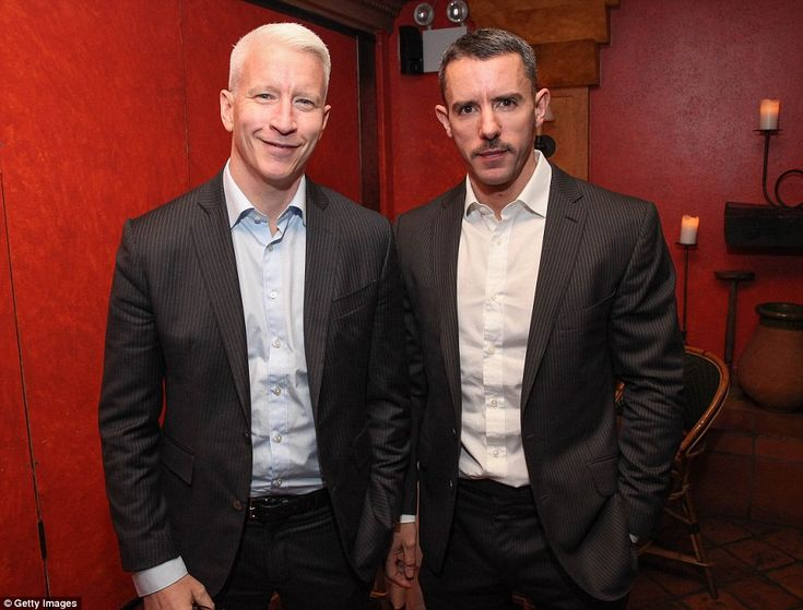 Long-term: Anderson Cooper (left) and Benjamin Maisani (right) - a Manhattan bar owner - have been together for about five years
