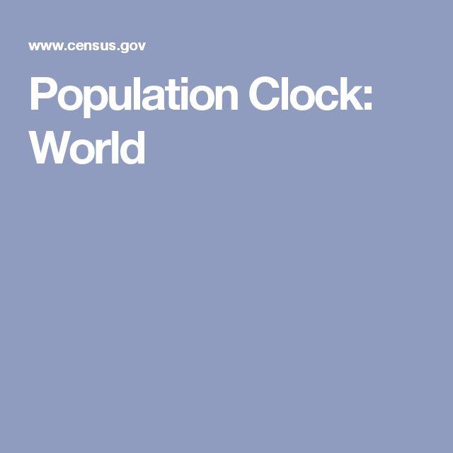 Population Clock: World