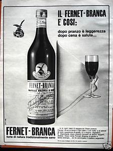 Pubblicita' FERNET - BRANCA 002 1966