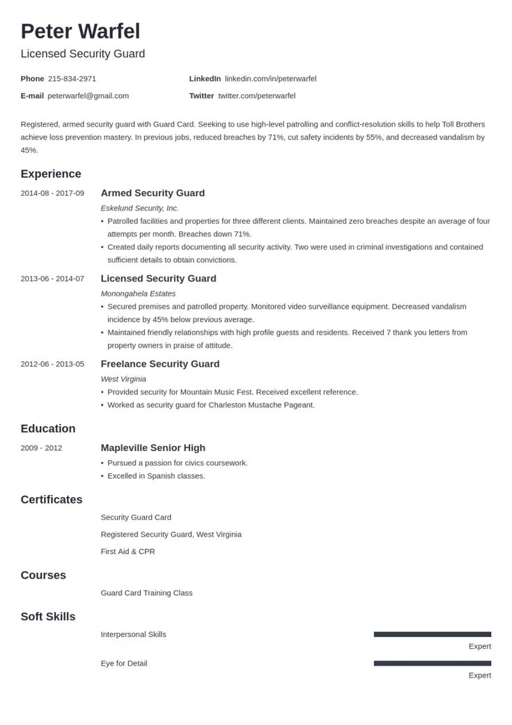 Browse our sample of security officer job description