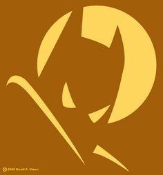 DC Batman silhouette   Free Halloween pumpkin carving stencil design template pattern