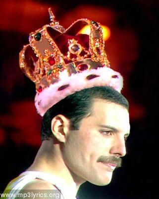Freddie Mercury wearing crown