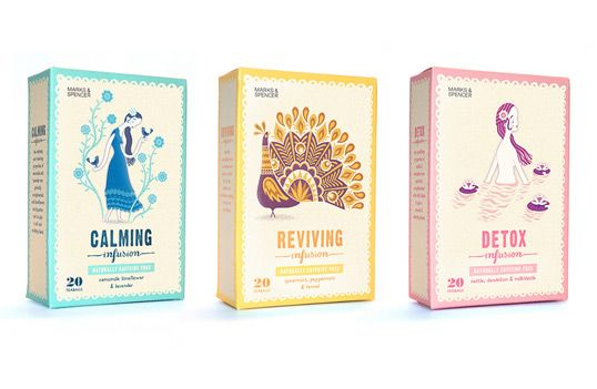 Stuart Kolakovic's beautiful packaging  design for Marks & Spencer tea.
