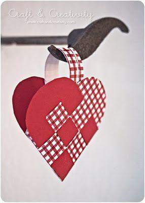 Swedish paper heart craft