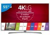 "Smart TV LED 55"" LG 4K/Ultra HD 55UJ6585 webOS - Conversor Digital 2 USB 4 HDMI"