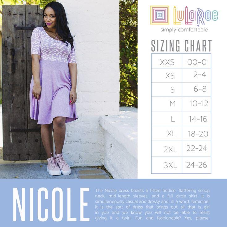 Nicole size chart https://www.facebook.com/groups/lularoejilldomme/