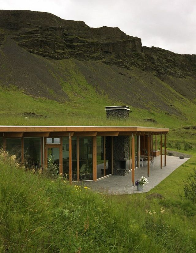 an amazing mountainside grass roof home with a well designed contemporary interior beautiful home - Underground Home Ideas