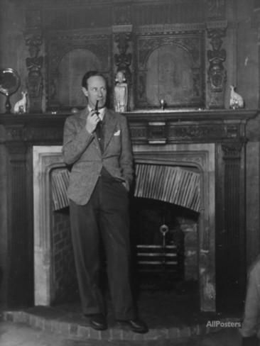 leslie howard magazine cover | Actor Leslie Howard Smoking Pipe as He Stands by His Fireplace, at ...