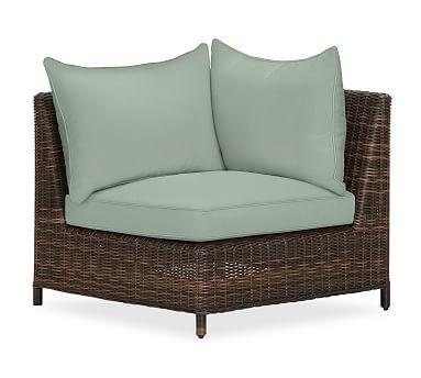 Torrey Sectional Corner Cushion Slipcover, Sunbrella(R) Spa. Replacement  CushionsLounge FurnitureOutdoor ...