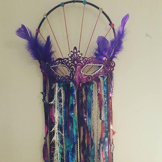 Hey, I found this really awesome Etsy listing at https://www.etsy.com/au/listing/530740755/masquerade-dream-catcher