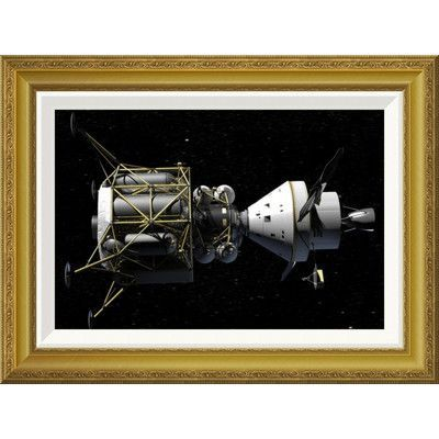 Global Gallery 'Altair and Orion spacecraft: conceptual rendering' by NASA Framed Wall Art Size: