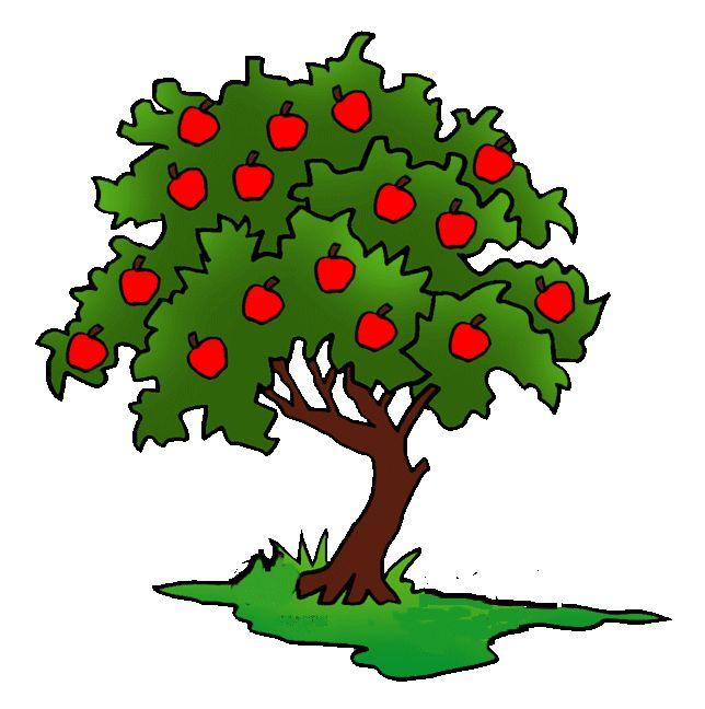 Картинка дерево с яблоками, днем рождения