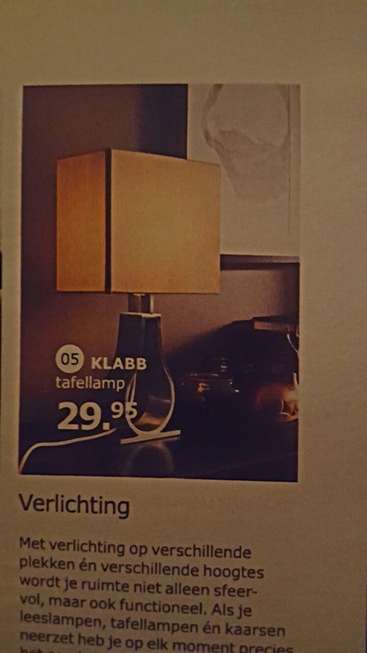 Lamp op dressoir (IKEA)