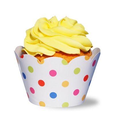 Wrapper Para Cupcake Grande Circo de Bolas Com 12 Unidades MISS CUPCAKES