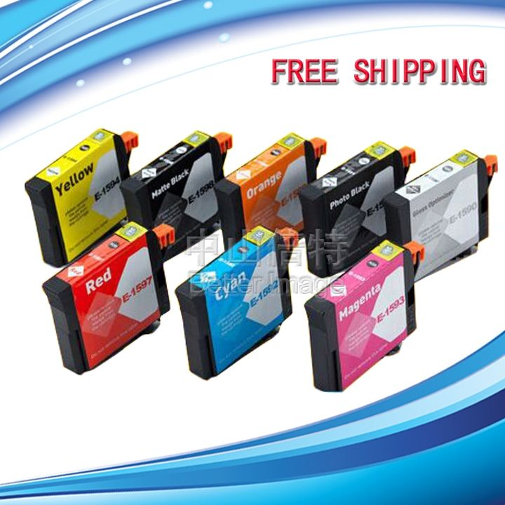 32.99$  Watch now - http://alixe8.shopchina.info/go.php?t=32780045631 - Full set of  Compatible Ink Cartridges T1591-T1599  with pigment ink  for Epson Stylus Photo R2000  #buyininternet