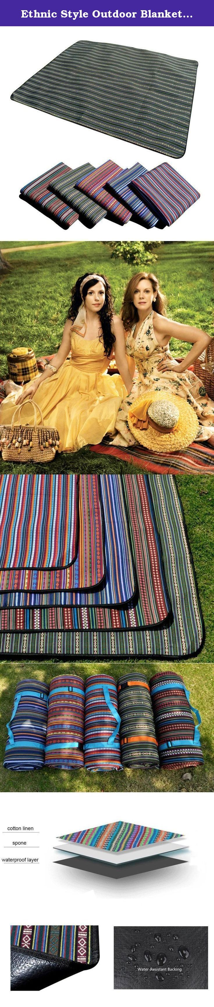 Ethnic Style Outdoor Blanket Water-Resistant Outdoor Mat 60in/55in For Picnic, Beach, Traveling, Camping, Hiking (A-3). UHAPPY OUTDOOR BLANKET Questions: 1.Are you tired of getting wet when picnicing in grass? 2.Do you come home from the beach with a blanket full of sand? 3.Do you get cold watching your home team at the stadium sitting on a hard, sometimes wet, chair or bench? 4.Do you wish you had a handy protective pad when moving stuff in your car? 5.Does your outdoor blanket feel more...