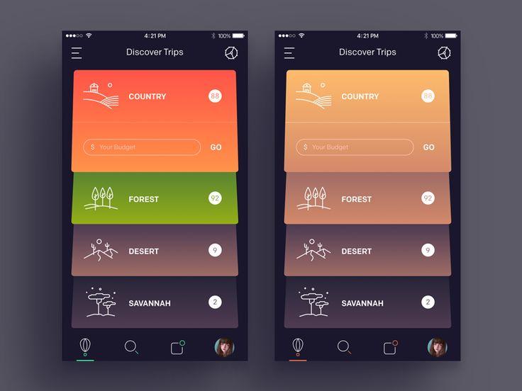 User interface by Moatasem Kharazz