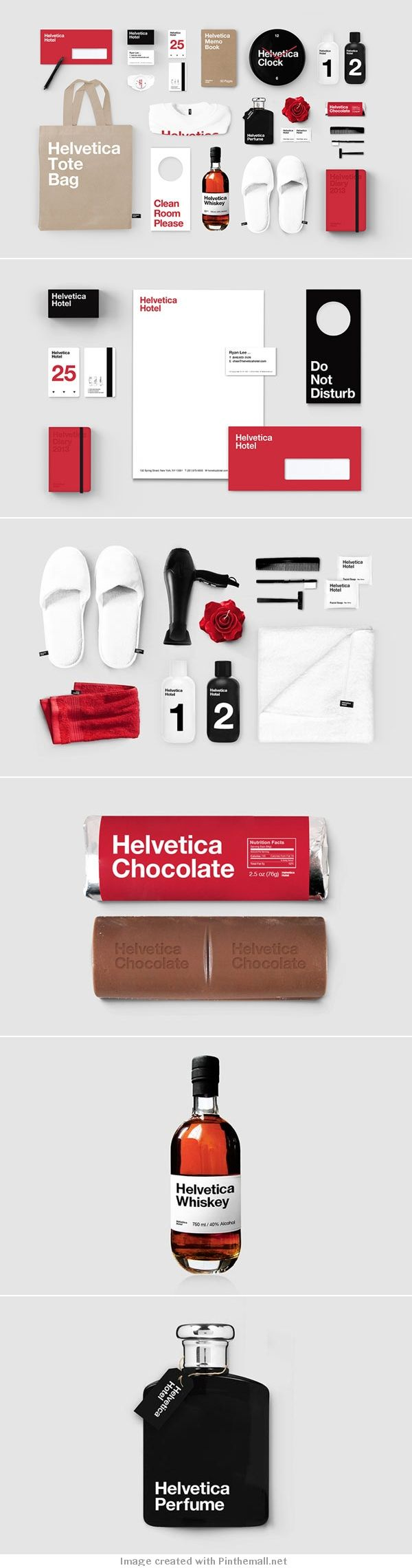 Helvetica Hotel – Branding Study by Albert Son - created via http://pinthemall.net