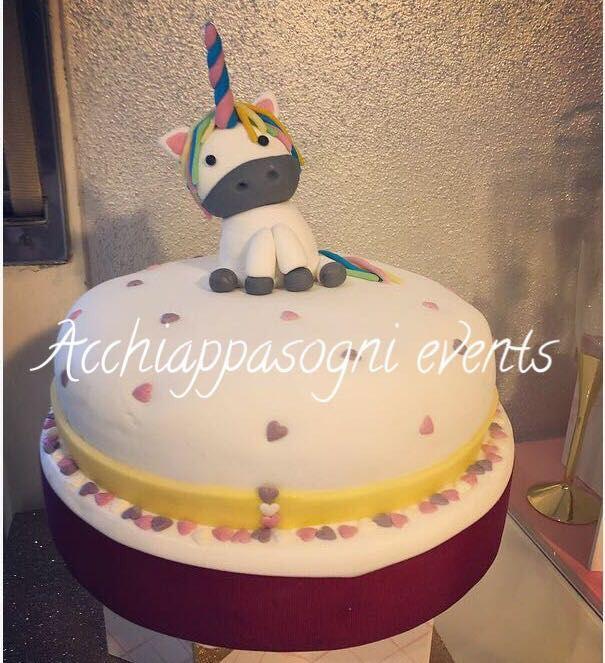 torta unicorno baby shower