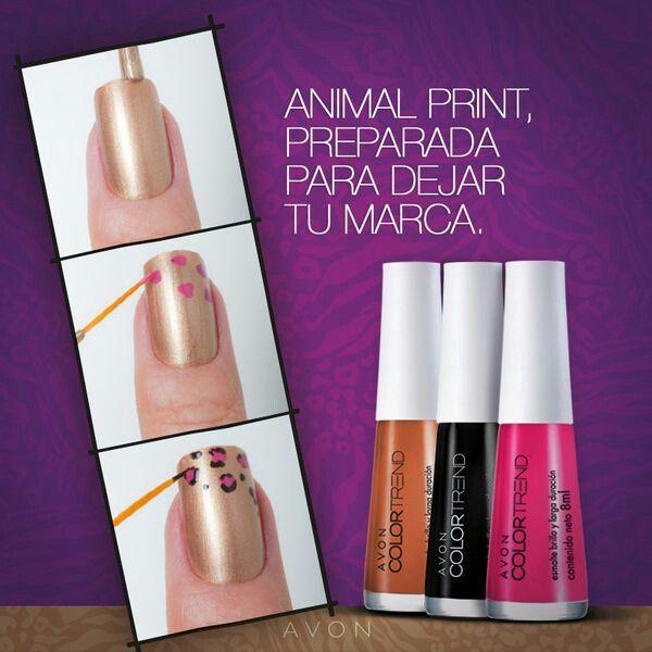 Tutorial nails animal print