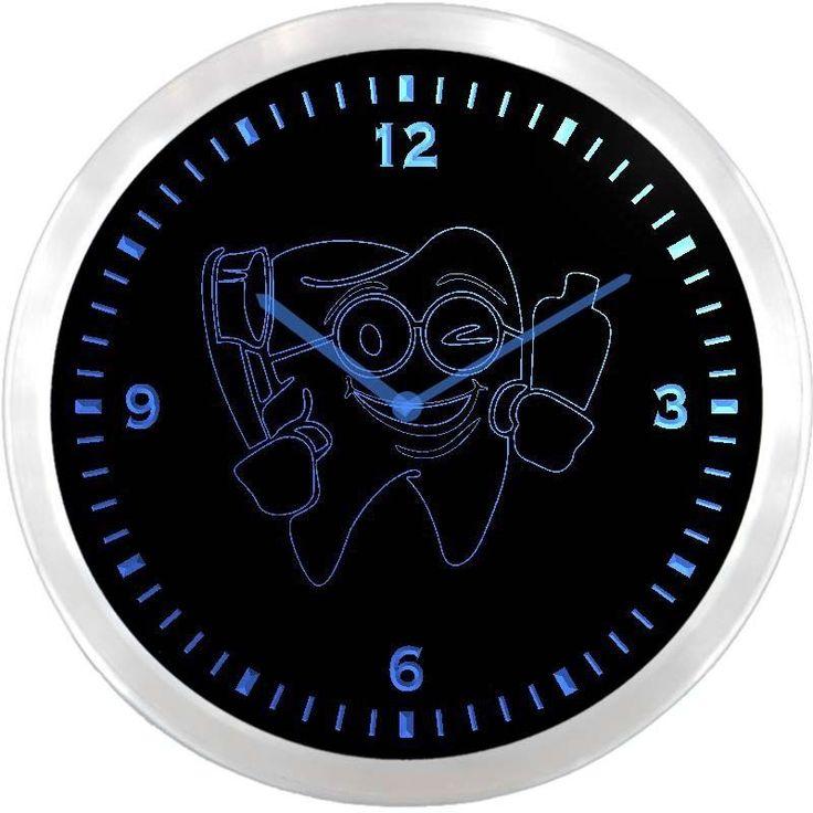 nc0979-b Dentist Dental Doctor Neon Sign LED Wall Clock #AdvProClock