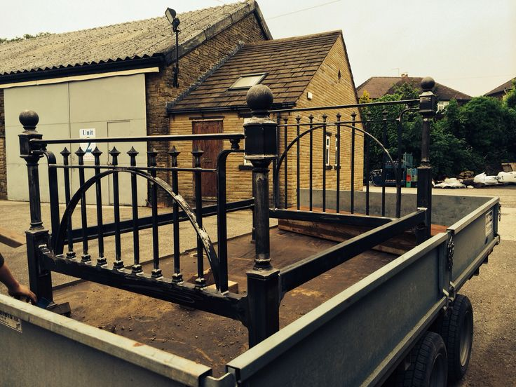 Iron fabricated bed.