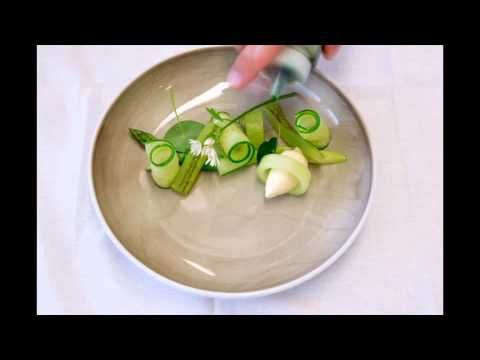 plating duck and cucumber - YouTube
