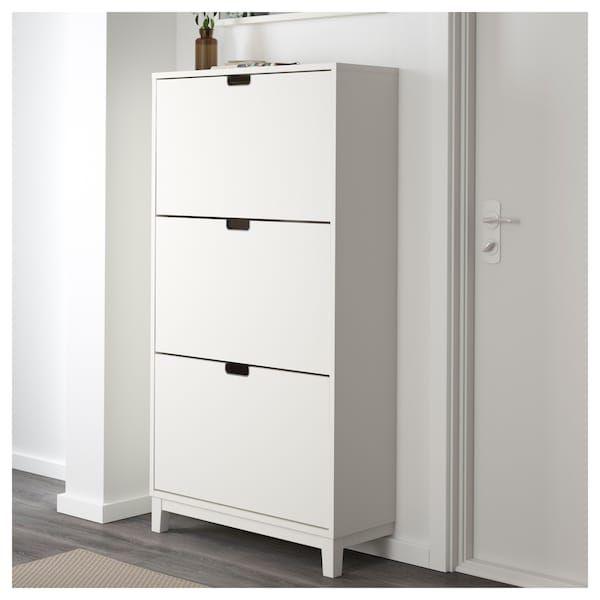 Schoenenkast Ikea Wit.Schoenenkast 3 Vakken Stall Wit Rotterdam House Shoe Cabinet