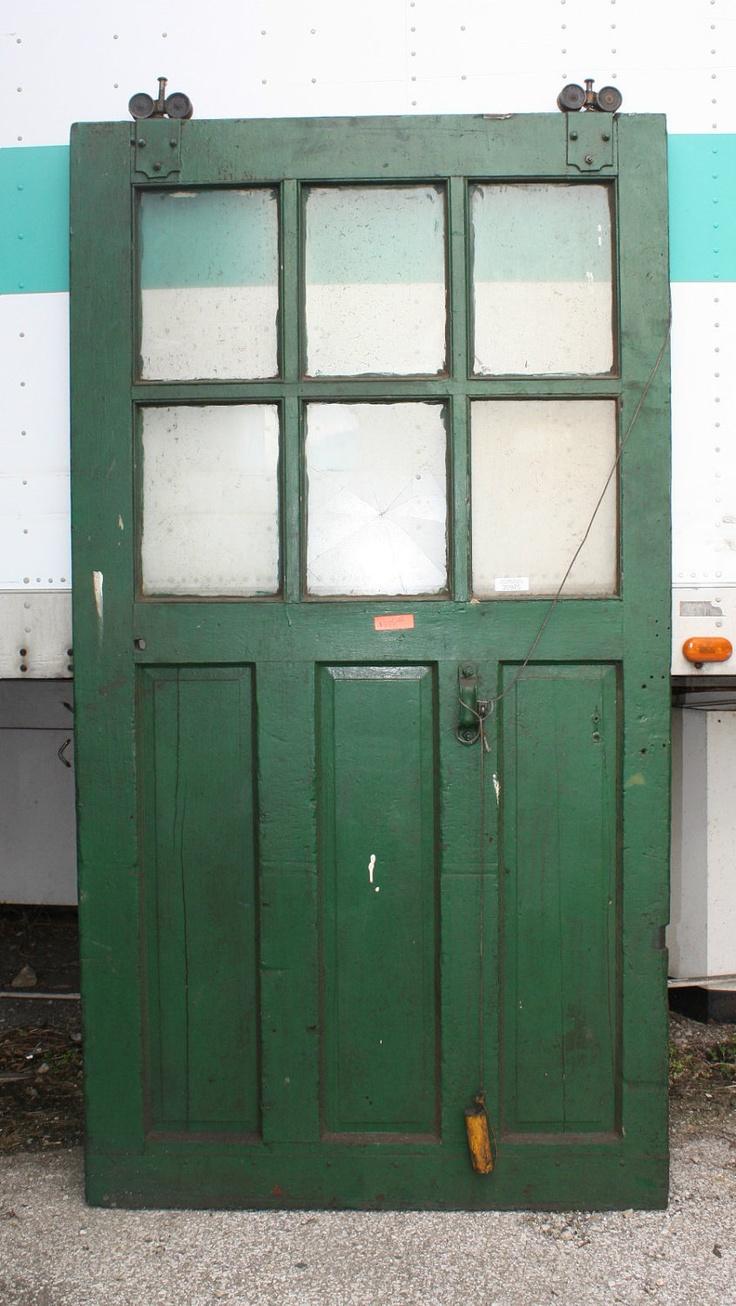 Great Industrial Six Light Wood Sliding Door. $835.60, via Etsy.
