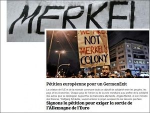 Ώρα Ελλάδος - Ώρα Αντίστασης...: MERKEL RAUS... Ευρωπαίοι πολίτες συλλέγουν υπογραφές online για… Germanexit ! Χωρίς Germanophobia