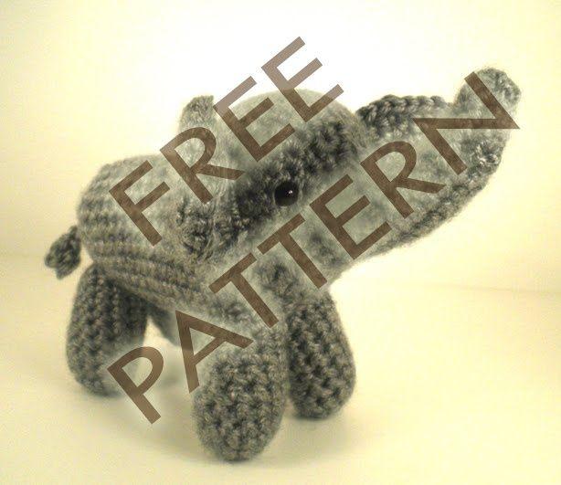 Free Crochet Pattern For Stuffed Elephant : Little Amigurumi Elephant Pattern. Crochet Items ...
